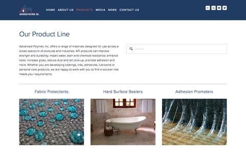 Screenshot of Products Page advpolymer.com - Products — Advanced Polymer, Inc. - captured Nov. 20, 2016