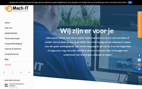 Screenshot of Contact Page mach-it.net - Contact   Mach-IT - captured Oct. 1, 2018
