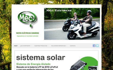 Screenshot of Home Page motoselectricascanarias.com - Motos eléctricas Canarias - captured Dec. 20, 2015