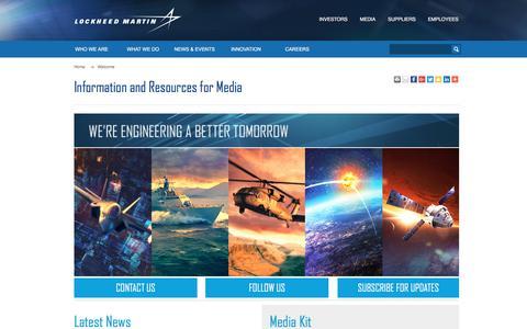 Screenshot of Press Page lockheedmartin.com - News & Events - Lockheed Martin - captured Jan. 17, 2018