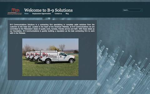 Screenshot of Home Page b9solutions.org - Home - captured Oct. 2, 2014