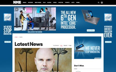 Screenshot of Press Page nme.com captured Dec. 5, 2015