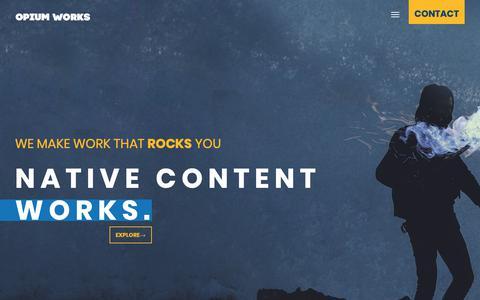 Screenshot of Home Page opiumworks.com - Opium Works | Web Design Development Digital Marketing Cyprus - captured Oct. 18, 2018