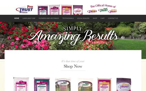 Screenshot of Home Page protrustproducts.com - Prepare to be amazed... - Pro Trust Products - captured July 17, 2015