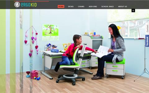 Screenshot of Home Page ergokid.com - Ergonomic Children Furniture & School Bags - ERGOKID Singapore - captured Sept. 23, 2014