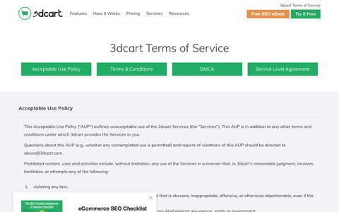 3dcart Terms of Service