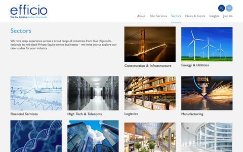 Screenshot of Case Studies Page efficioconsulting.com - Efficio - captured Sept. 29, 2015