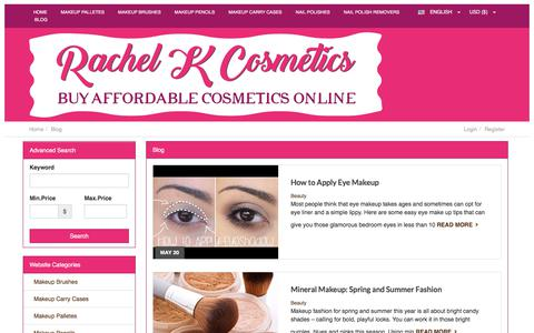 Screenshot of Blog rachelkcosmetics.com - Blog | Rachel K Cosmetics - captured June 27, 2017