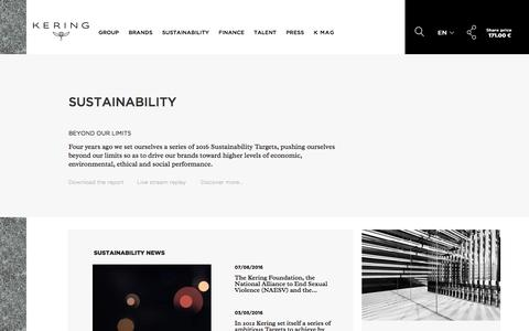 Sustainability | Kering