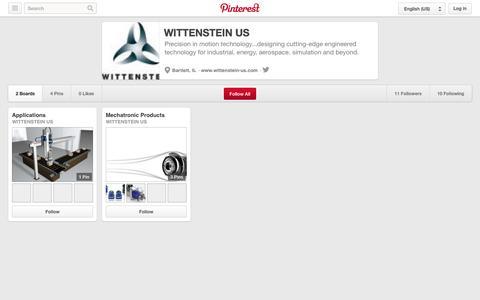 Screenshot of Pinterest Page pinterest.com - WITTENSTEIN US on Pinterest - captured Oct. 22, 2014