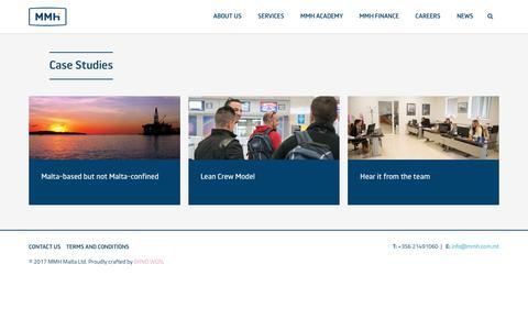Screenshot of Case Studies Page mmh.com.mt - Case Studies Archive - MMH - captured Oct. 7, 2017