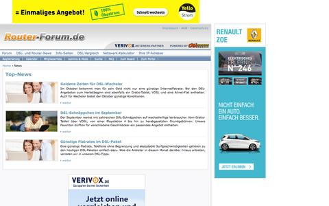 Screenshot of Press Page router-forum.de - DSL- und Internet-News auf Router-Forum.de - captured Oct. 30, 2014