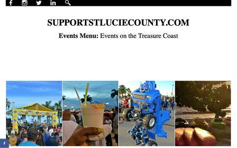 Screenshot of Menu Page supportstluciecounty.com - Treasure Coast - Events Menu - captured Oct. 3, 2018