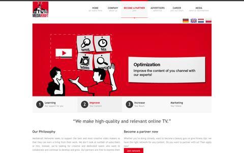 Screenshot of Signup Page mediakraftnetworks.de - Partner werdenBecome a partnerPartner worden Zostań partneremOrtağımız olun - Mediakraft Networks - captured Sept. 19, 2014
