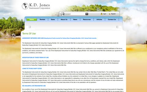 Screenshot of Terms Page kdjonesinstruments.com - Geophysical Instruments for Subsurface Imaging Rentals- K.D. Jones Instruments > Home - captured Oct. 6, 2014