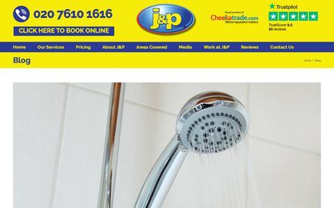 Screenshot of Blog jandpplumbing.co.uk - Blog Archives - J and P Plumbing and Heating - captured Sept. 30, 2018