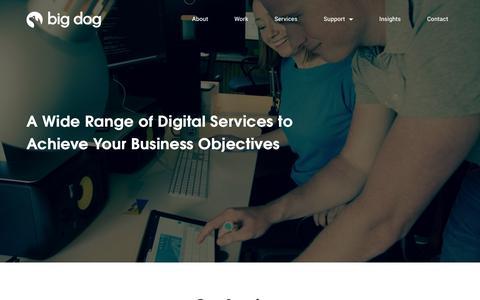 Screenshot of Services Page bigdog.ie - WordPress Web Design | Website Maintenance | SEO | Big Dog Digital - captured Oct. 10, 2017