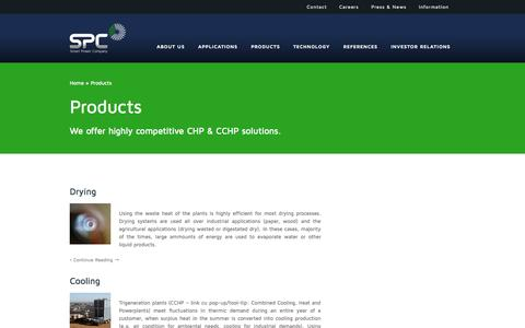 Screenshot of Products Page spcenergy.ro - SPC - Smart Power Company | Category Archive | Products - captured Oct. 27, 2014