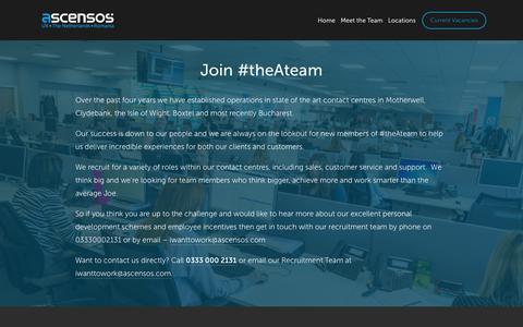 Screenshot of Jobs Page ascensos.com - Current Vacancies — Ascensos - captured April 16, 2018
