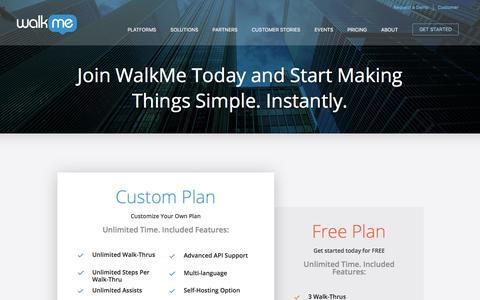 Screenshot of Pricing Page walkme.com - Pricing - WalkMe™ - captured July 9, 2017