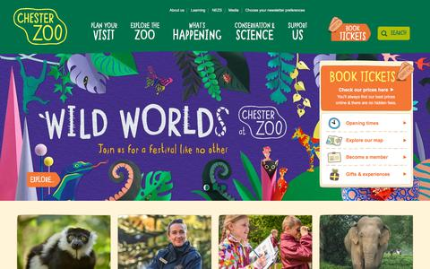 Screenshot of Home Page chesterzoo.org - Visit Chester Zoo - captured July 9, 2018