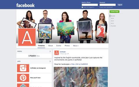 Screenshot of Facebook Page facebook.com - Artfinder | Facebook - captured Oct. 25, 2014