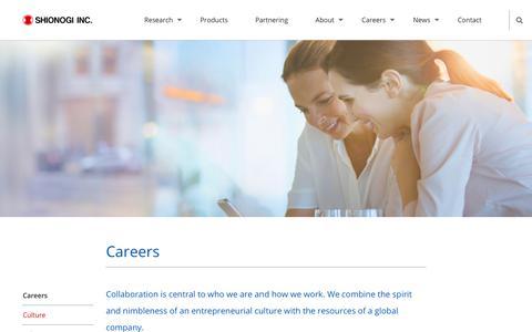 Screenshot of Jobs Page shionogi.com - Careers - Shionogi Inc. A Discovery-Based Pharmaceutical Company - captured Oct. 18, 2018
