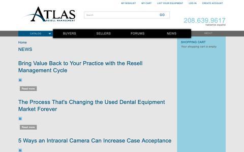 Screenshot of Press Page atlasresell.com - News | Atlas Resell Management - captured Oct. 4, 2018