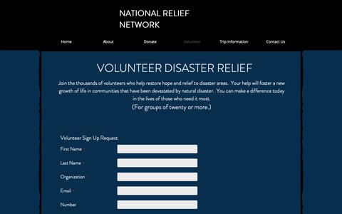 Screenshot of Signup Page nrn.org - Student Volunteer Trips | Disaster Relief | National Relief Network - captured Oct. 18, 2018
