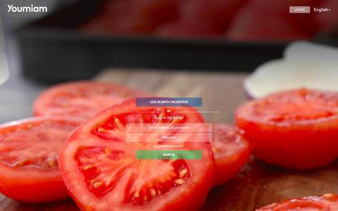 Screenshot of Login Page youmiam.com - Youmiam - Share your recipes - captured Oct. 18, 2018