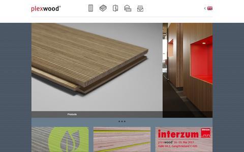 Screenshot of Home Page plexwood.com - Plexwood | Home - captured May 19, 2017