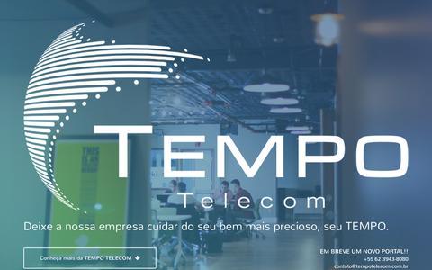 Screenshot of Home Page tempotelecom.com.br - Tempo Telecom - captured March 16, 2016