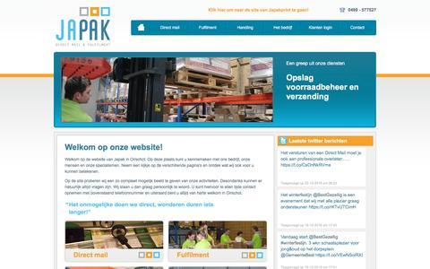 Screenshot of Home Page japak.nl - Home | Japak Direct mail & Fulfilment - captured Feb. 20, 2017