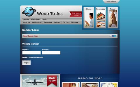 Screenshot of Login Page nm-secure.com - Word To All International | Member Login - captured Sept. 24, 2014