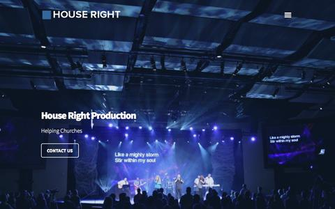 Screenshot of Home Page houseright.com - House Right Production - captured Oct. 3, 2014