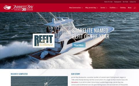 Screenshot of Home Page jarrettbay.com - Welcome to Jarrett Bay - Jarrett Bay Boatworks - captured Feb. 11, 2016