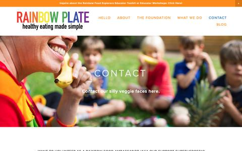 Screenshot of Locations Page rainbowplate.com - Contact — Rainbow Plate - captured Nov. 1, 2018