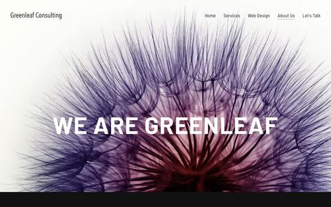 Screenshot of About Page greenleaf-consulting.co.uk - Marketing Consultants for Small Businesses | Greenleaf Consulting - captured Sept. 30, 2018