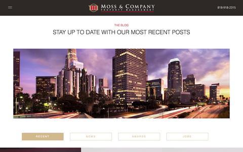 Screenshot of Blog mosscompany.com - THE BLOG - Moss & Company - captured Oct. 21, 2017