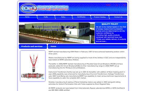 Screenshot of Home Page memf.com.sa - MEMF - captured Oct. 6, 2014