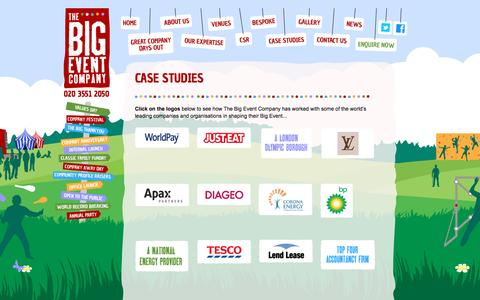 Screenshot of Case Studies Page thebigeventcompany.com - Case Studies | Corporate Events Companies | The Big Event Company London - captured Nov. 25, 2016
