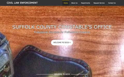 Screenshot of Home Page sccoboston.com - Civil Law Enforcement - captured Oct. 8, 2014