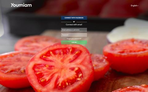 Screenshot of Login Page youmiam.com - Youmiam - Share your recipes - captured Nov. 28, 2016