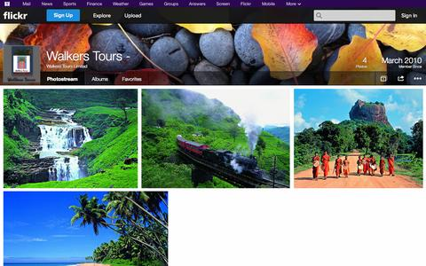 Screenshot of Flickr Page flickr.com - Flickr: Walkers Tours Limited's Photostream - captured Oct. 25, 2014