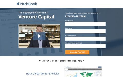 Screenshot of Landing Page pitchbook.com captured Dec. 23, 2016