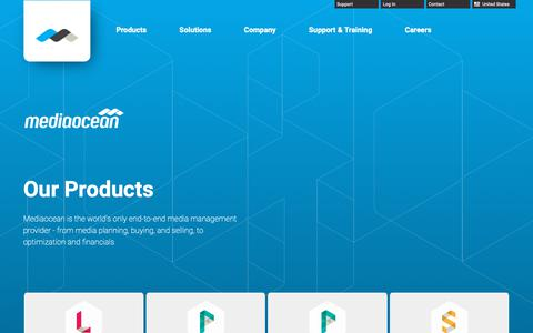 Screenshot of Products Page mediaocean.com - Our Products | Mediaocean - captured April 3, 2019