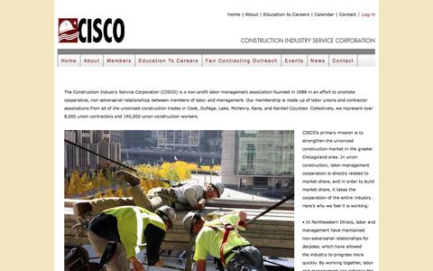 Screenshot of Signup Page cisco.org - CISCO || Construction Industry Service Corporation - captured Nov. 11, 2016