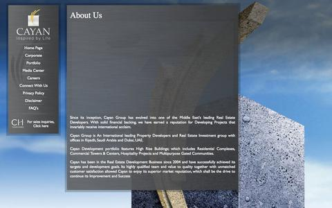 Screenshot of About Page cayan.net - About Us | Cayan Group - captured Nov. 3, 2014