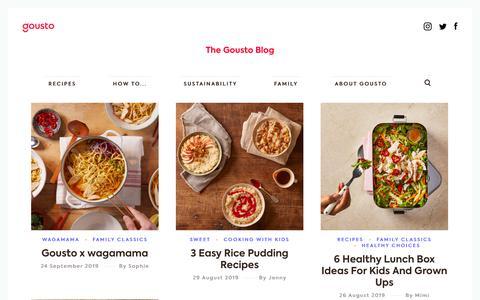 Screenshot of Blog gousto.co.uk - Gousto Food Blog - Cooking Ideas & Kitchen Hacks from Gousto - captured Sept. 25, 2019