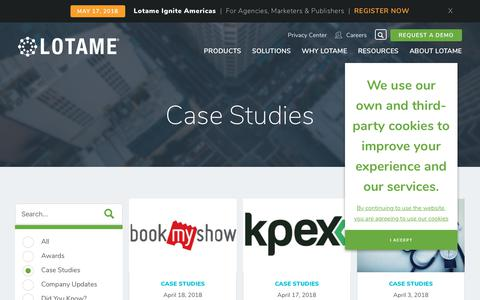 Screenshot of Case Studies Page lotame.com - Lotame Case Studies | Data Management Platform | DMP - captured April 30, 2018